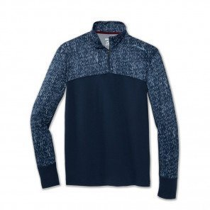 BROOKS Tee-Shirt Manches Longue dash 1/2 zip Homme | Blue