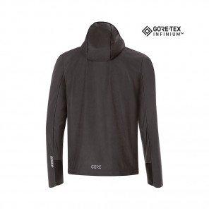 GORE® R5 GORE-TEX INFINIUM™ SOFT LINED VESTE À CAPUCHE HOMME | BLACK