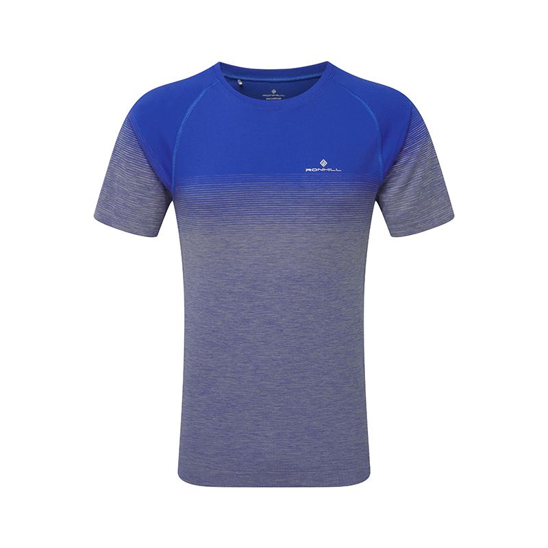 RONHILL Tee-Shirt manches courtes MARATHON INFINITY Homme   Azurite Marl